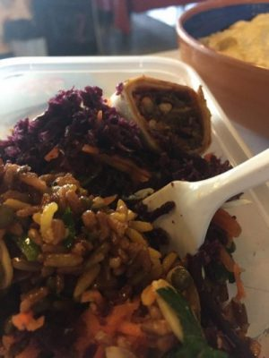 image of gluten free red rice wrap from happy food at home by ciara brennan